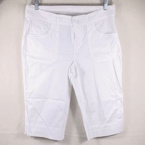 CHRISTOPHER & BANKS White Capri Pants Size 12